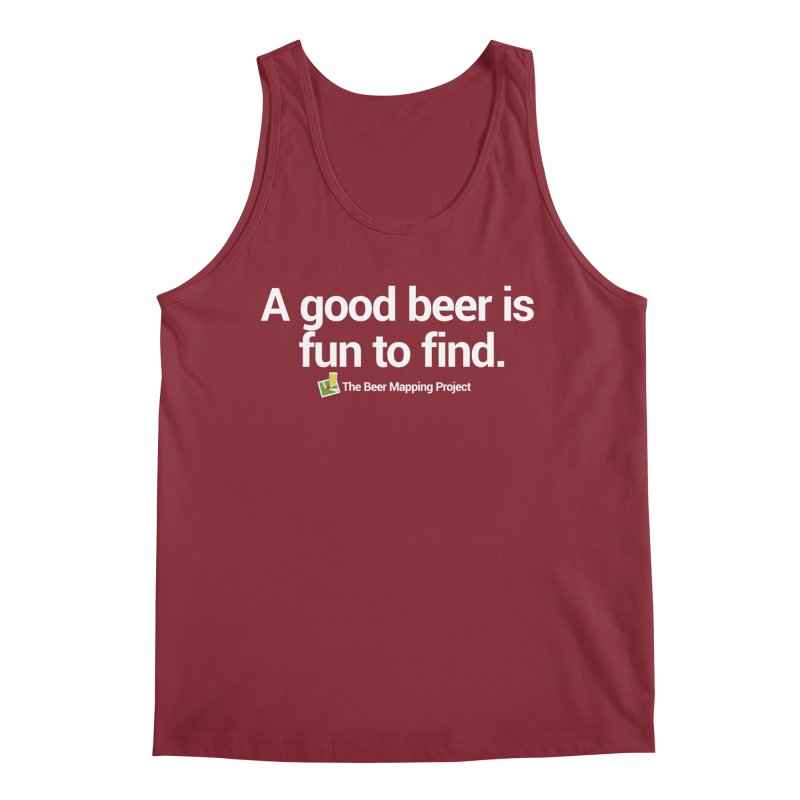 A good beer is fun to find.  Men's Regular Tank by The Beer Mapping Shop