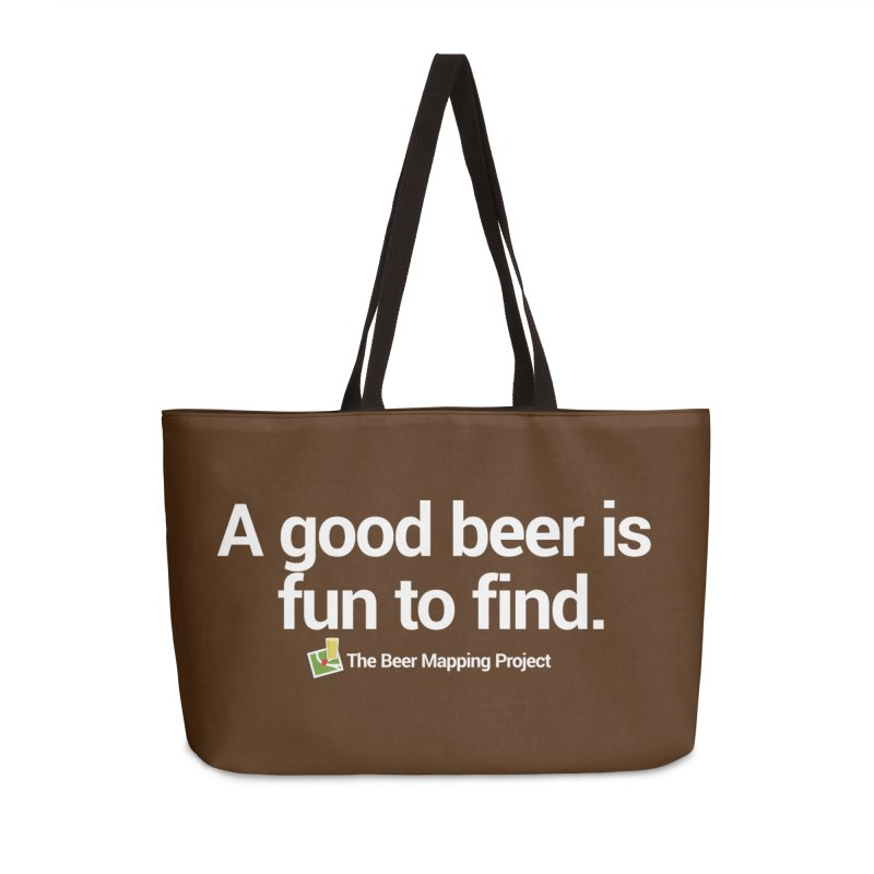 A good beer is fun to find.  Accessories Weekender Bag Bag by The Beer Mapping Shop