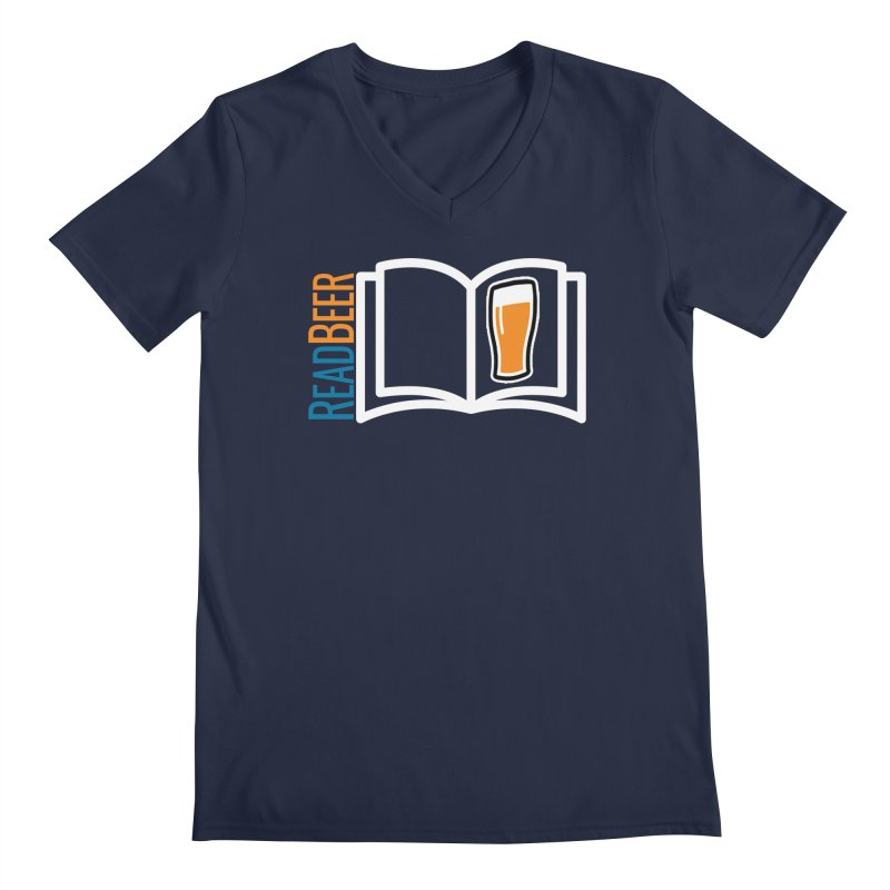ReadBeer.com Men's Regular V-Neck by The Beer Mapping Shop