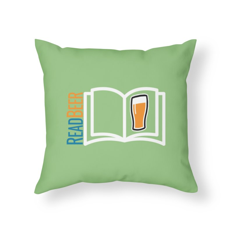 ReadBeer.com Home Throw Pillow by The Beer Mapping Shop
