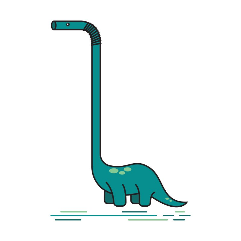 Dinostraw Home Stretched Canvas by Beers All Round