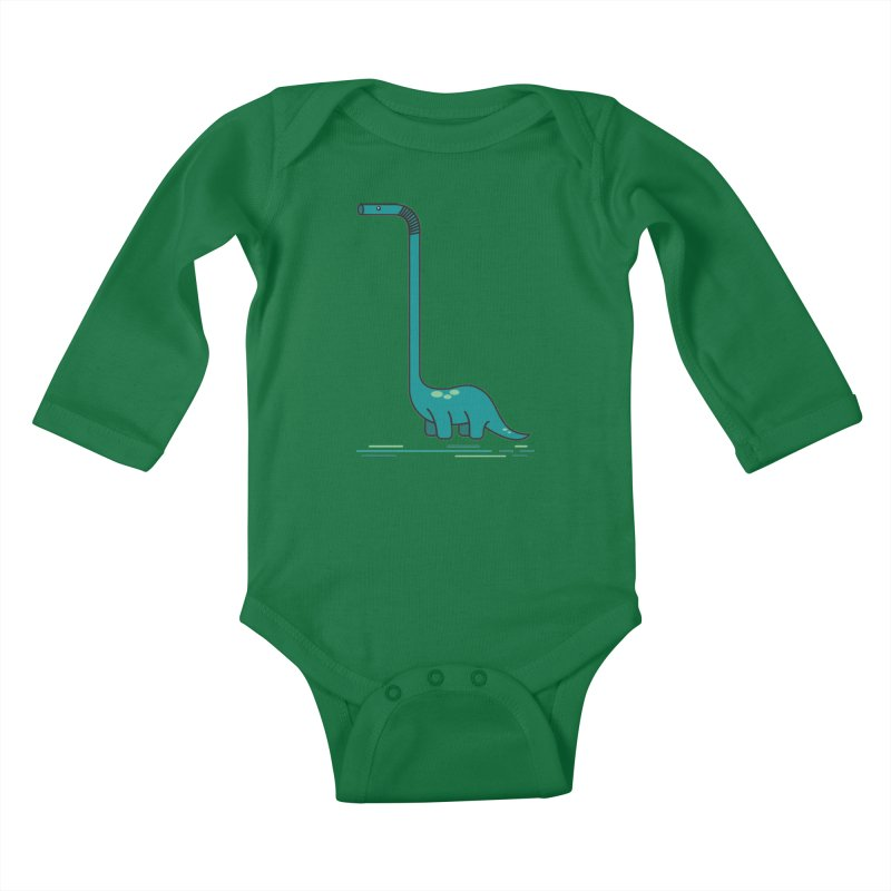 Dinostraw Kids Baby Longsleeve Bodysuit by Beers All Round
