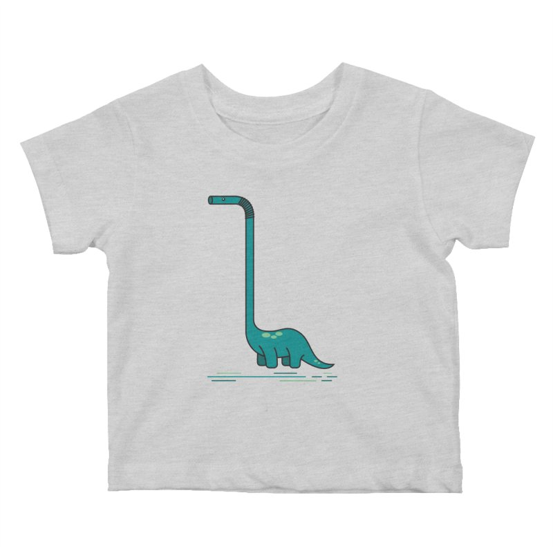 Dinostraw Kids Baby T-Shirt by Beers All Round