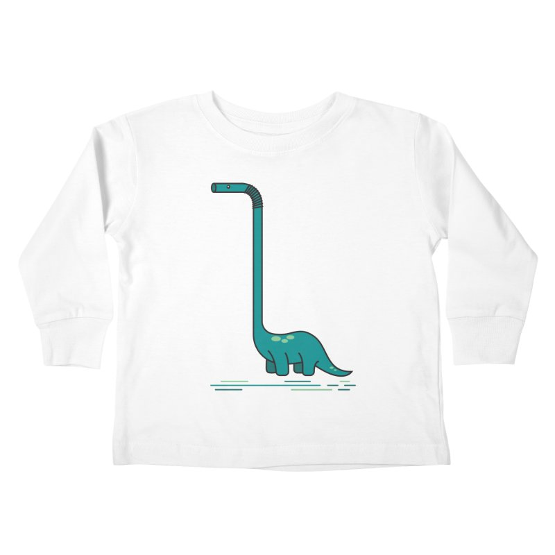 Dinostraw Kids Toddler Longsleeve T-Shirt by Beers All Round