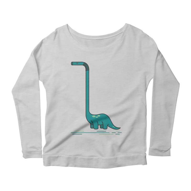 Dinostraw Women's Scoop Neck Longsleeve T-Shirt by Beers All Round