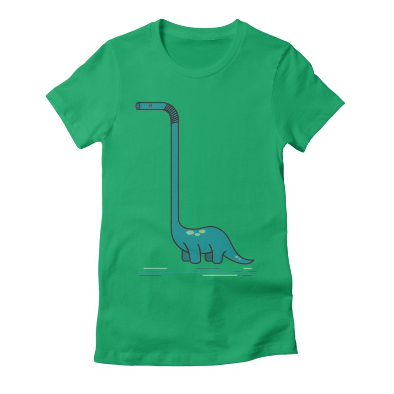 Dinostraw Women's Fitted T-Shirt by Beers All Round