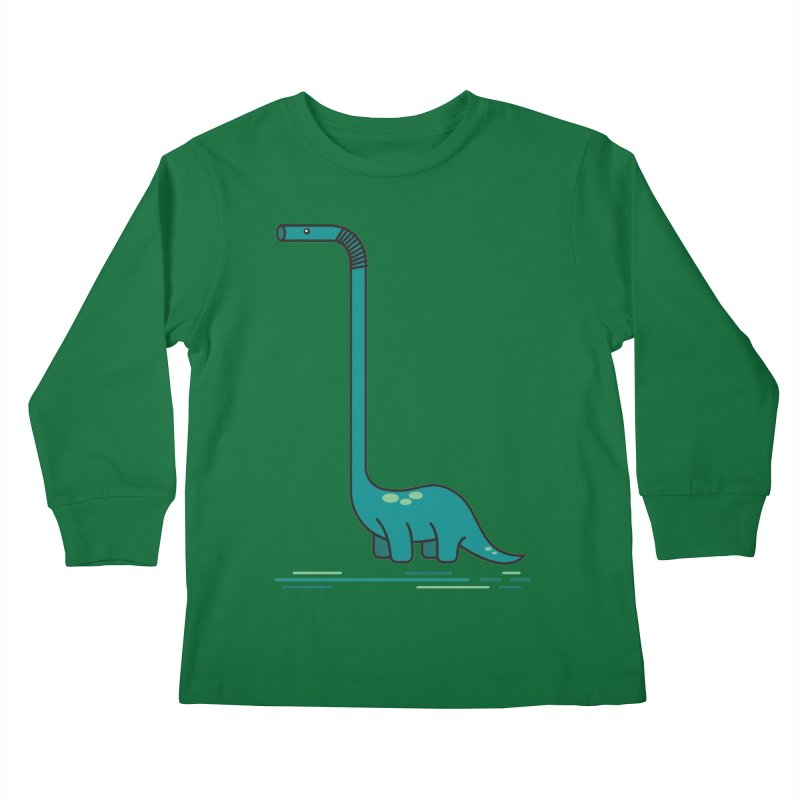 Dinostraw Kids Longsleeve T-Shirt by Beers All Round