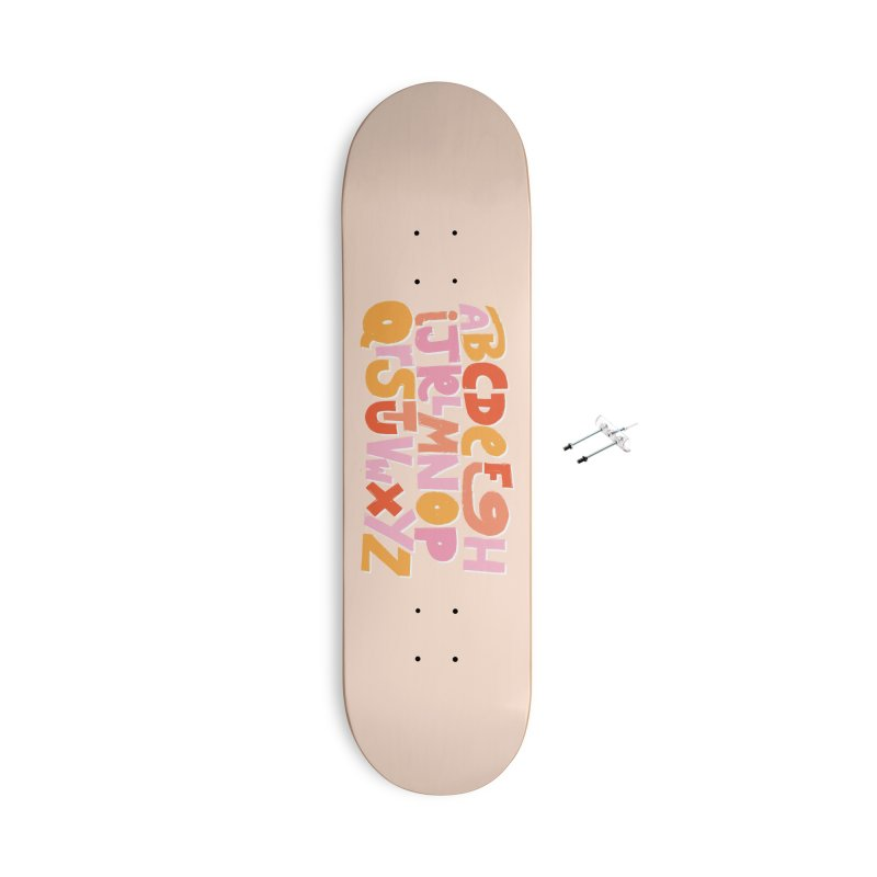 Alphabet Accessories With Hanging Hardware Skateboard by Beers All Round