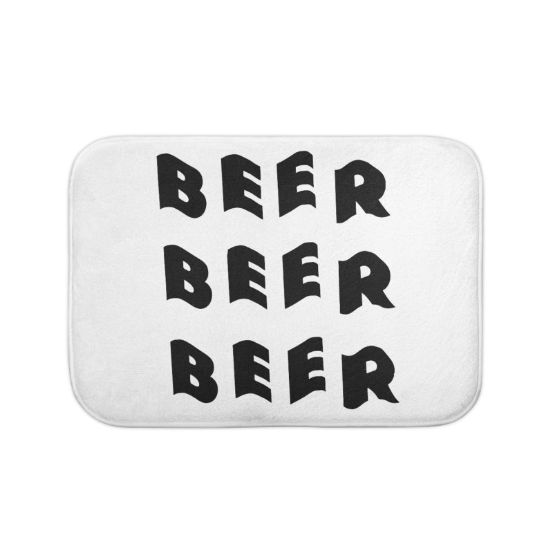 Beer, Beer and more Beer Home Bath Mat by Beers All Round