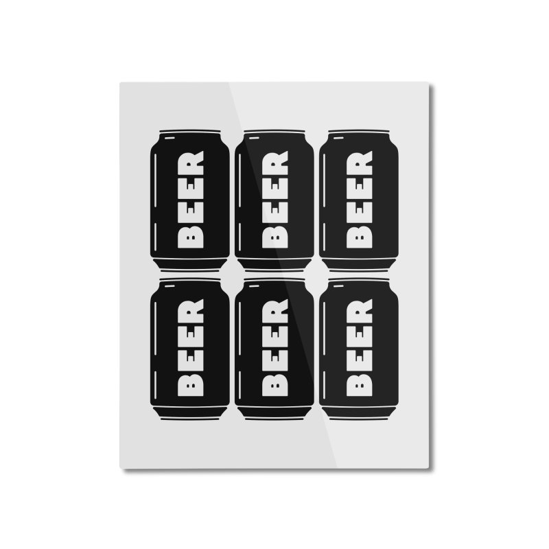 6-Pack Home Mounted Aluminum Print by Beers All Round