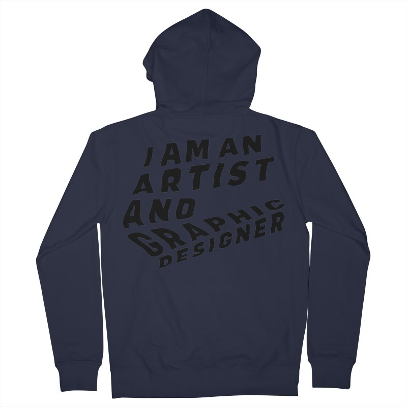 Who I am  Men's French Terry Zip-Up Hoody by Beers All Round