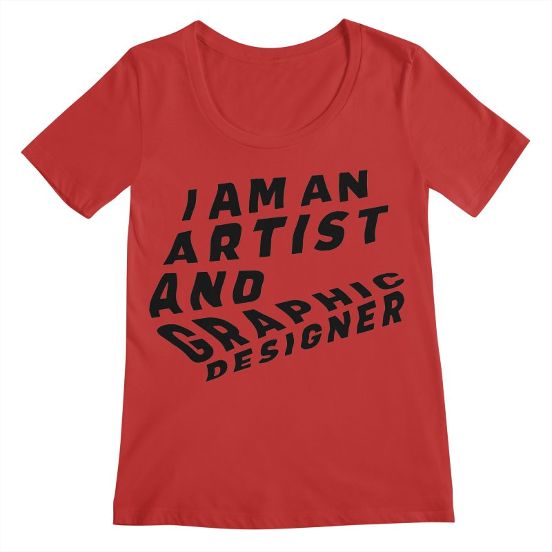 Who I am  Women's Regular Scoop Neck by Beers All Round