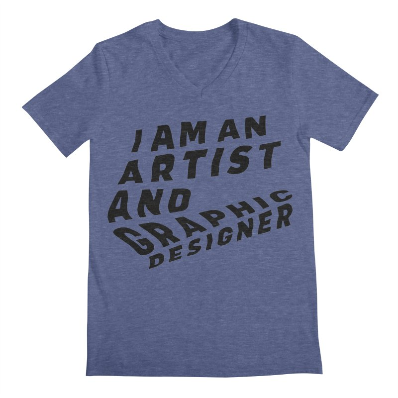 Who I am  Men's Regular V-Neck by Beers All Round