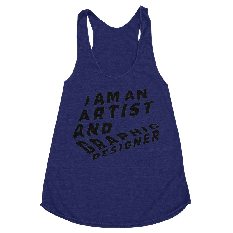 Who I am  Women's Racerback Triblend Tank by Beers All Round