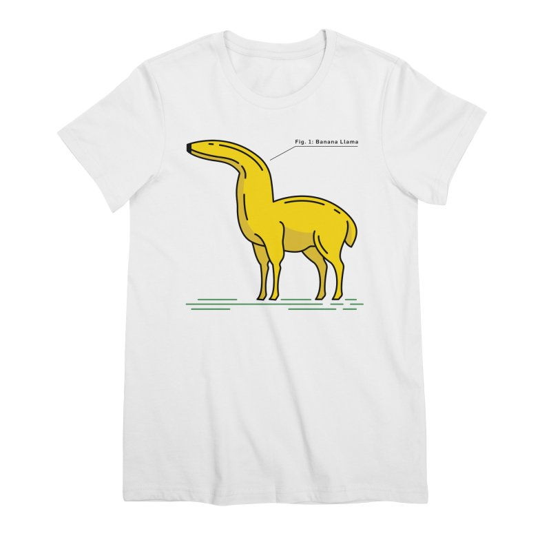 Banana Llama Women's Premium T-Shirt by Beers All Round