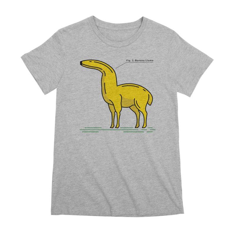 Banana Llama Women's Premium T-Shirt by Beers All Round