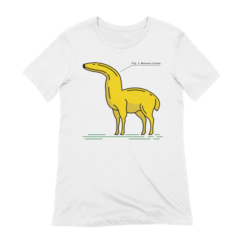 Banana Llama Women's Extra Soft T-Shirt by Beers All Round