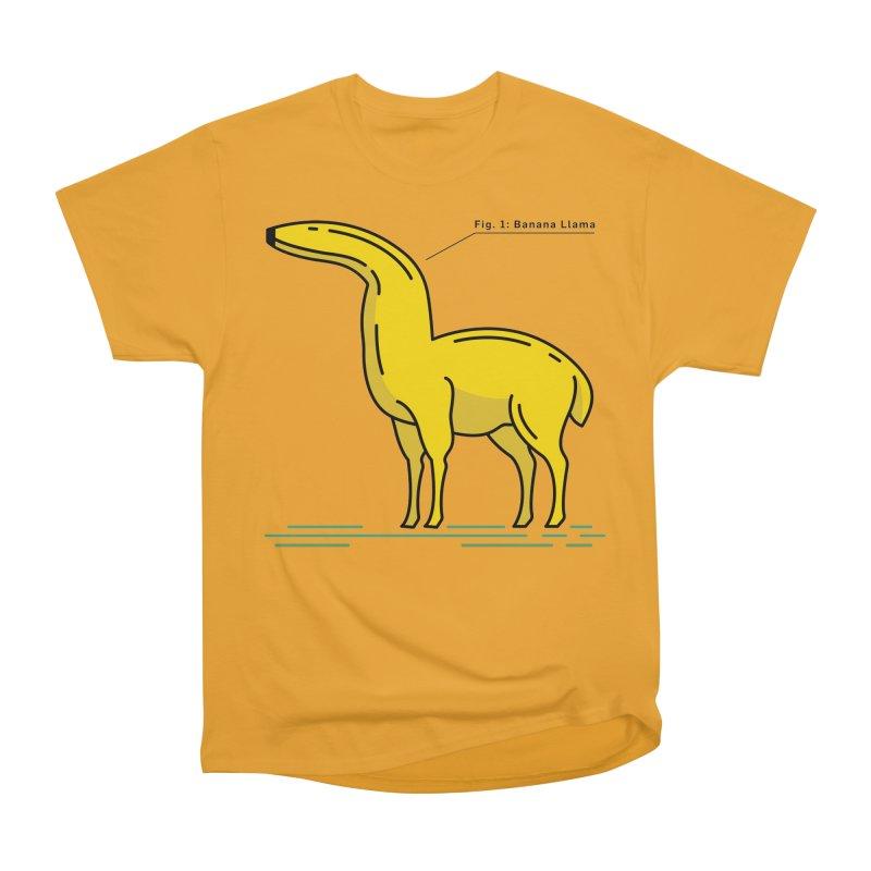 Banana Llama Women's Heavyweight Unisex T-Shirt by Beers All Round