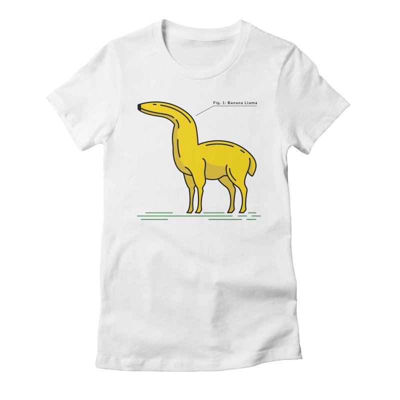 Banana Llama Women's Fitted T-Shirt by Beers All Round