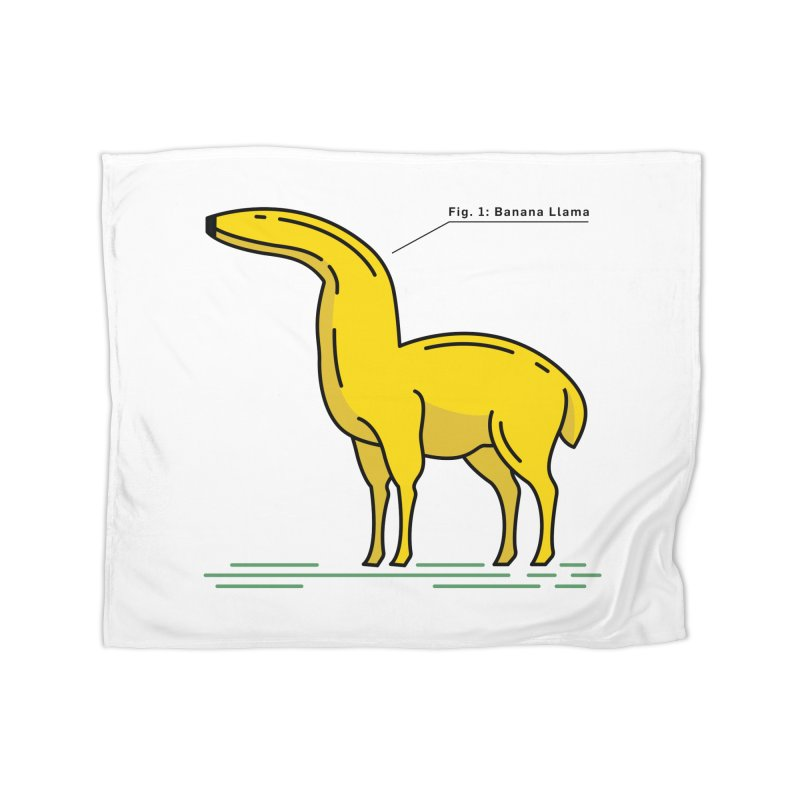 Banana Llama Home Fleece Blanket Blanket by Beers All Round