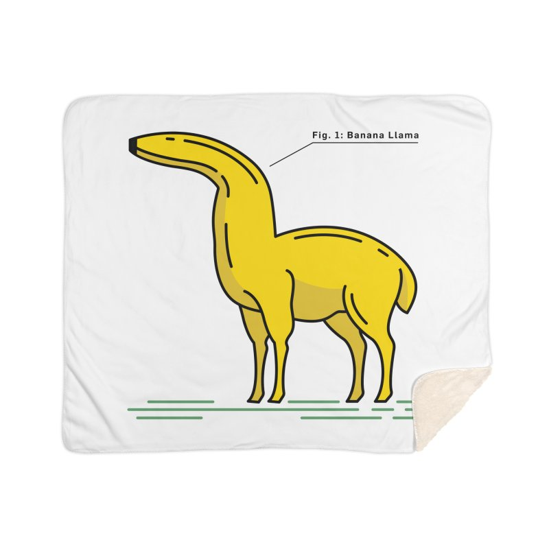 Banana Llama Home Sherpa Blanket Blanket by Beers All Round