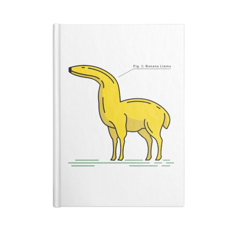Banana Llama Accessories Lined Journal Notebook by Beers All Round