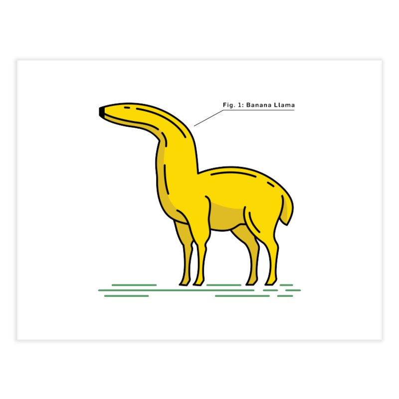 Banana Llama Home Fine Art Print by Beers All Round