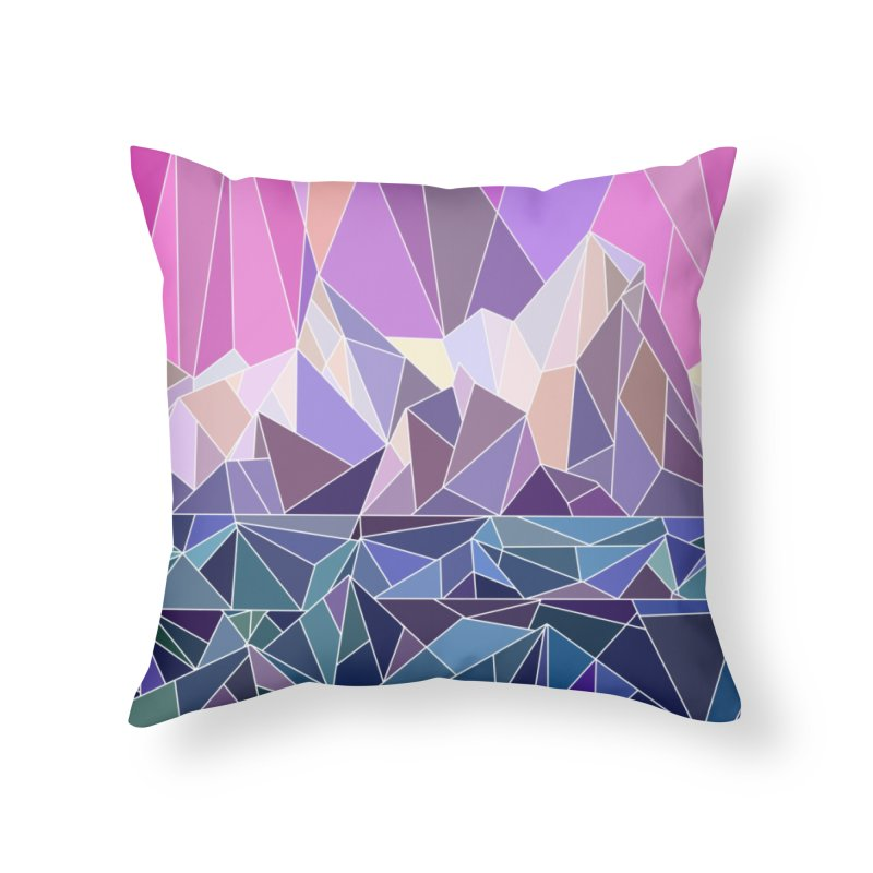 Mountains Home Throw Pillow by BeesAnts's Artist Shop