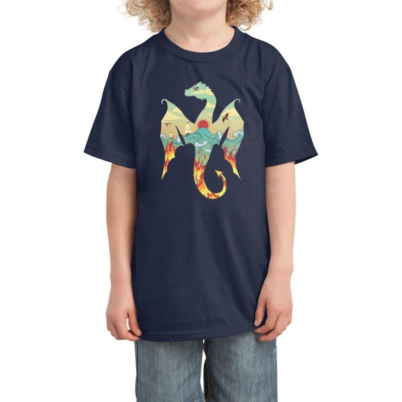 Dragons Kids T-Shirt by BeesAnts's Artist Shop