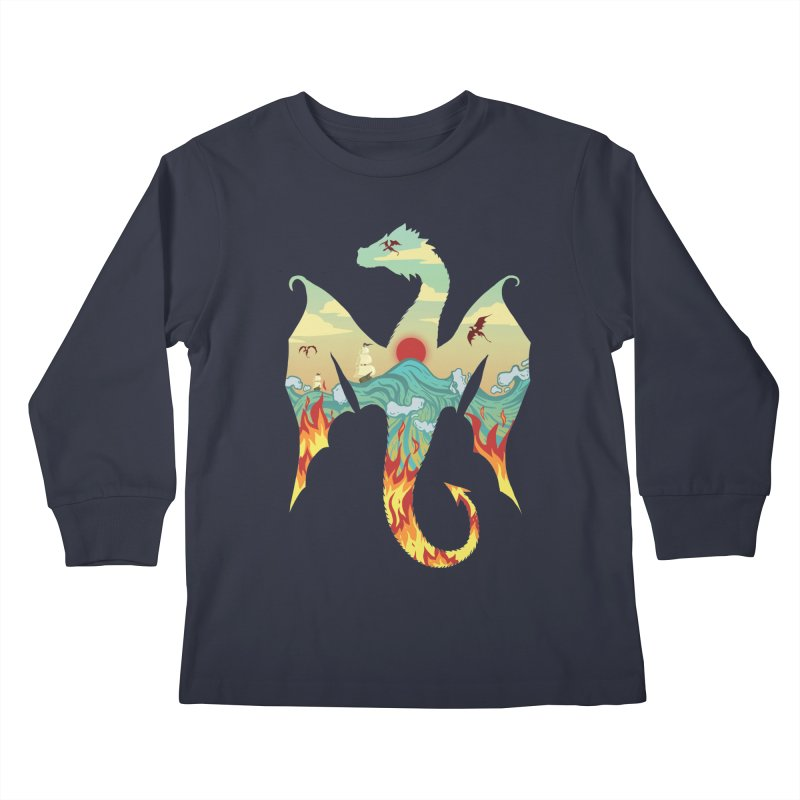 Dragons Kids Longsleeve T-Shirt by BeesAnts's Artist Shop