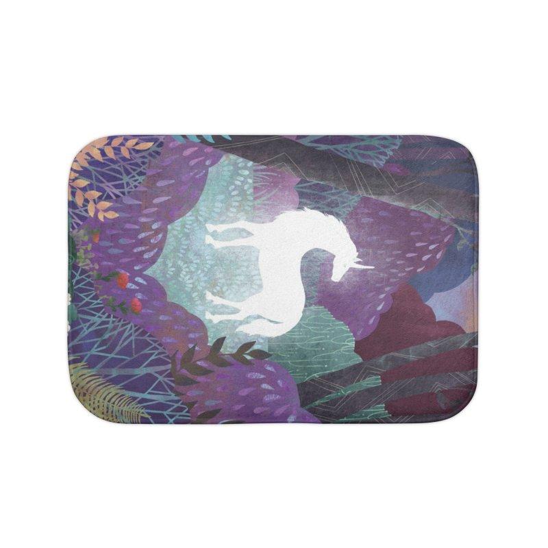The Last Unicorn Home Bath Mat by BeesAnts's Artist Shop
