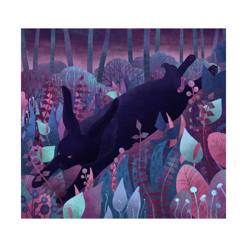 Follow The Black Rabbit Home Stretched Canvas by BeesAnts's Artist Shop