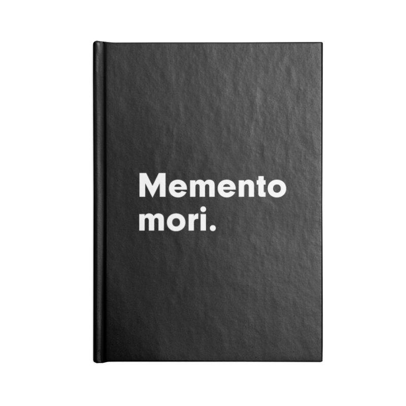 Memento Mori in Blank Journal Notebook by Before I Die