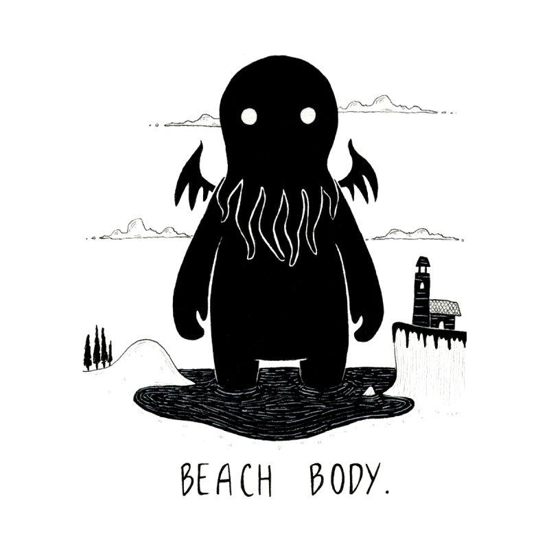 Beach Body Men's Zip-Up Hoody by Behemot's doodles
