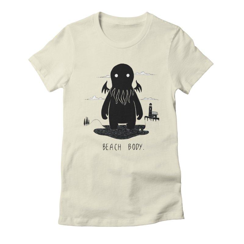 Beach Body Women's T-Shirt by Behemot's doodles
