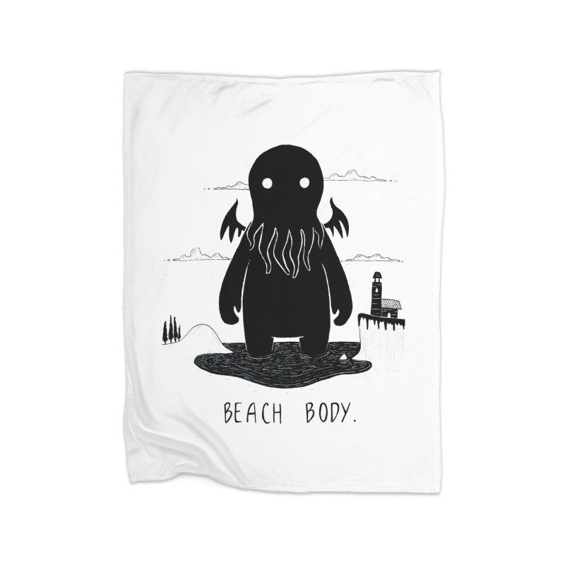 Beach Body Home Blanket by Behemot's doodles