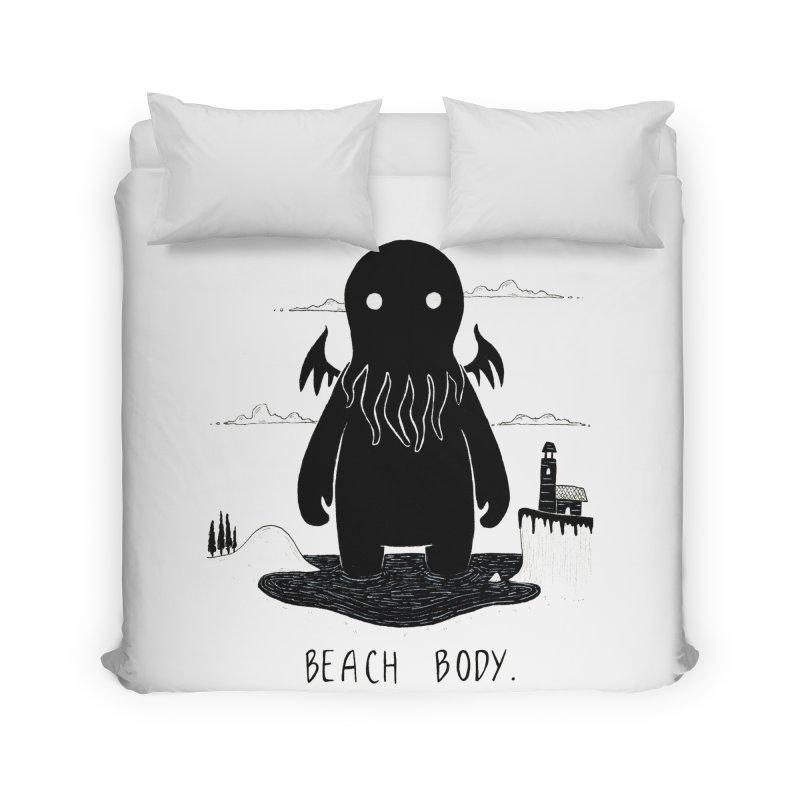Beach Body Home Duvet by Behemot's doodles