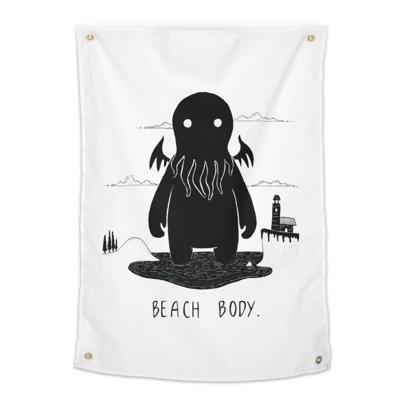Beach Body Home Tapestry by Behemot's doodles
