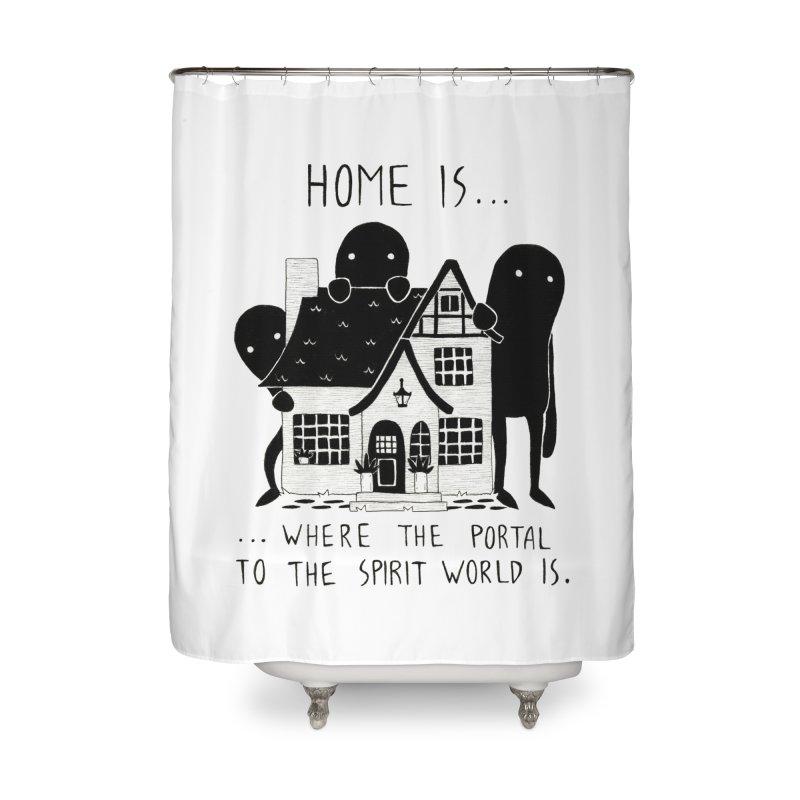 Home Home Shower Curtain by Behemot's doodles