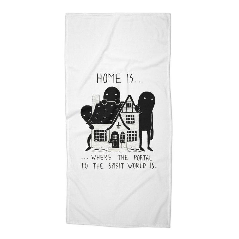 Home Accessories Beach Towel by Behemot's doodles