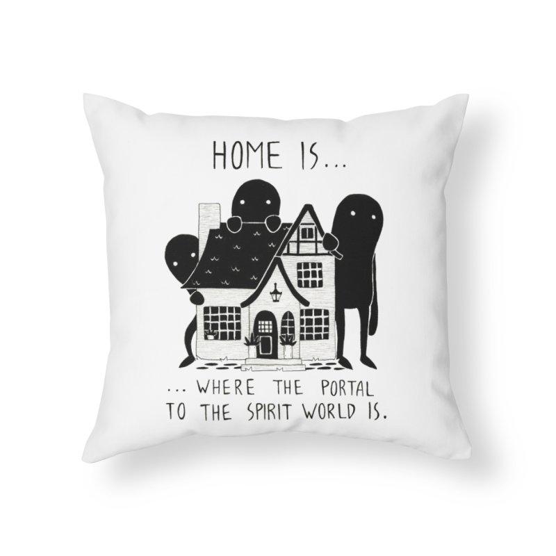Home Home Throw Pillow by Behemot's doodles