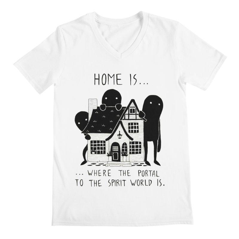 Home Men's V-Neck by Behemot's doodles
