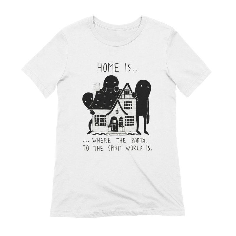 Home Women's T-Shirt by Behemot's doodles