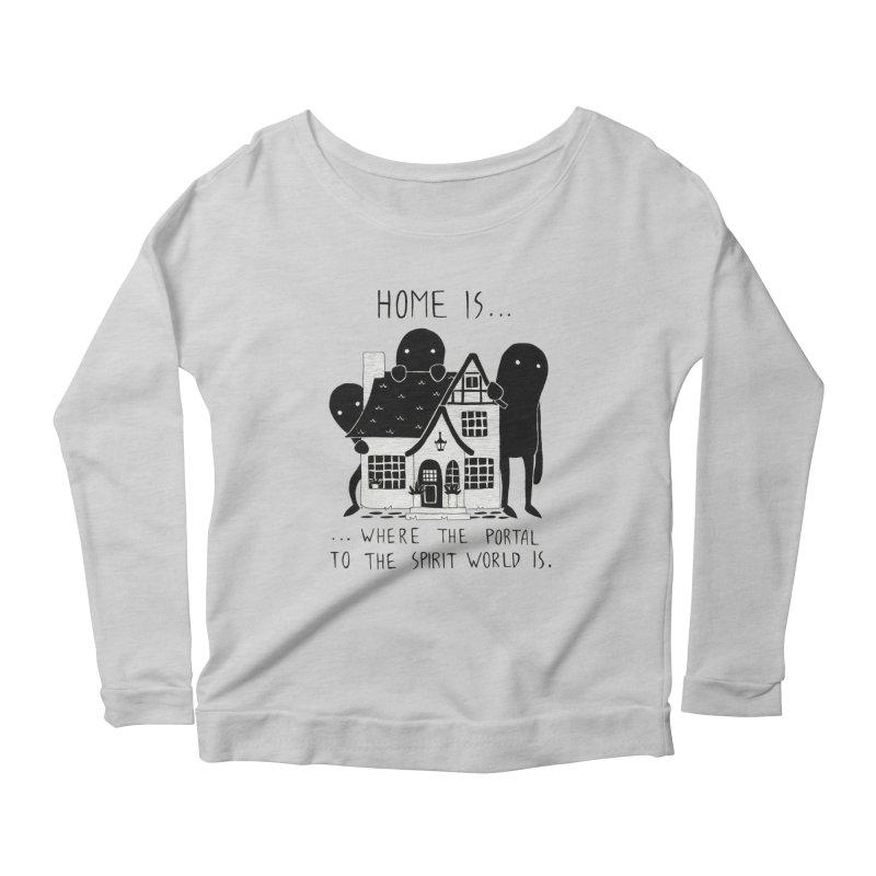 Home Women's Longsleeve T-Shirt by Behemot's doodles