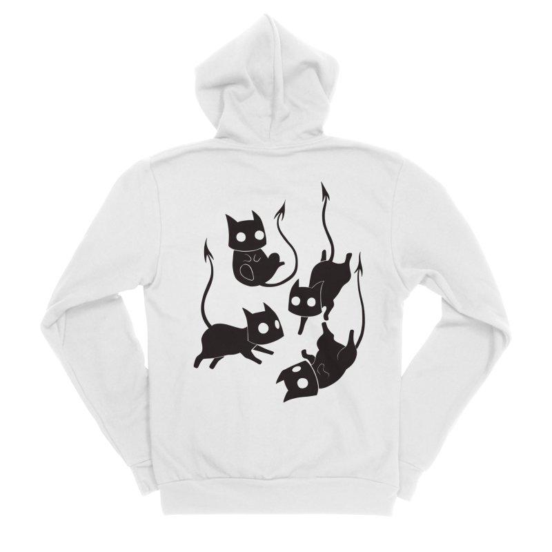 Demon Cats Women's Zip-Up Hoody by Behemot's doodles