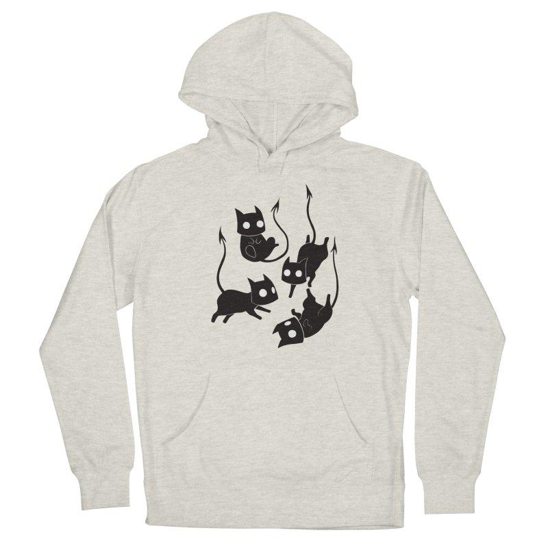 Demon Cats Men's Pullover Hoody by Behemot's doodles