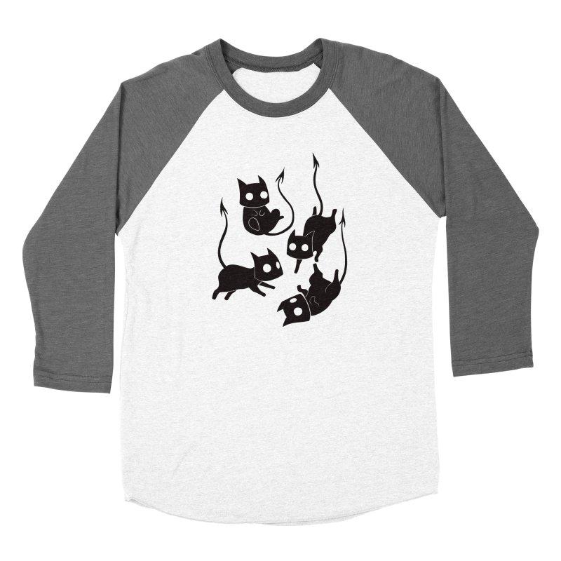 Demon Cats Women's Longsleeve T-Shirt by Behemot's doodles