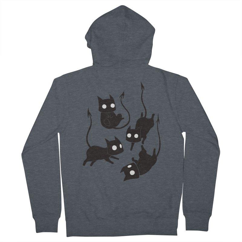Demon Cats Men's Zip-Up Hoody by Behemot's doodles