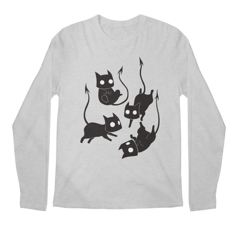 Demon Cats Men's Longsleeve T-Shirt by Behemot's doodles