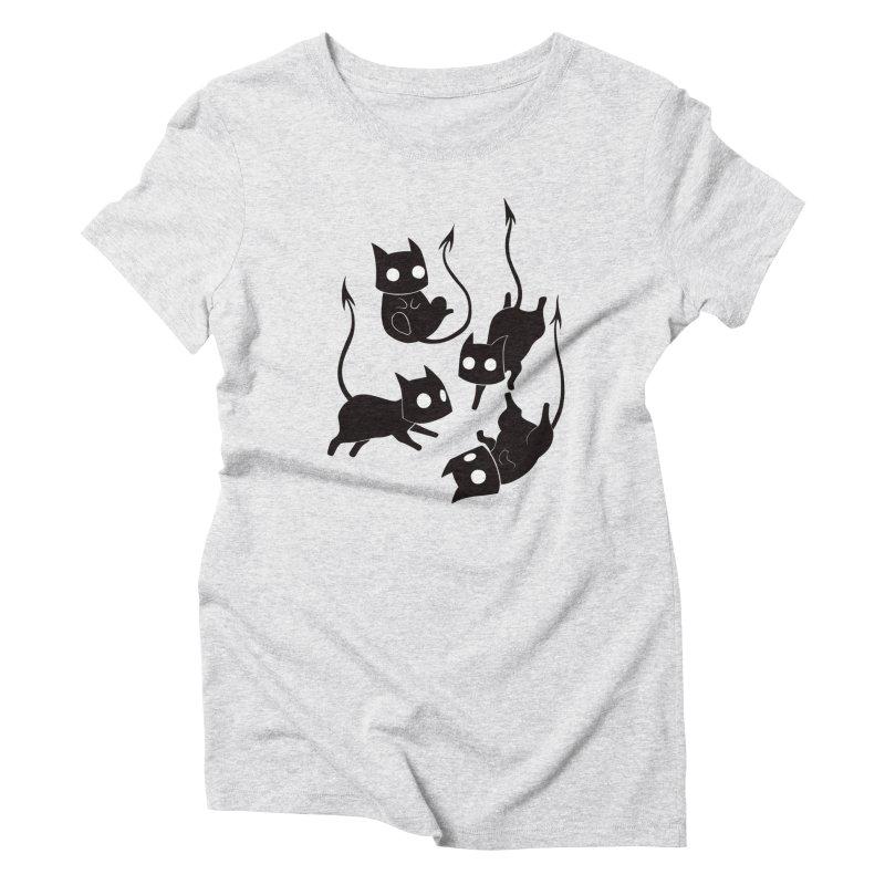 Demon Cats Women's T-Shirt by Behemot's doodles